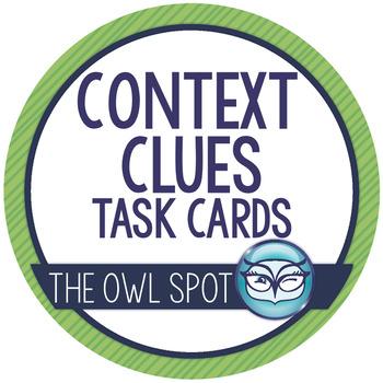 Context Clues Task Cards - Intermediate Level! Test Prep