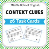 Context Clues Task Cards Middle School English and Reading