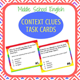 Context Clues Task Cards Middle and High School Reading