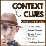 Context Clues: Task Cards, Reading Passages, Exit Slips