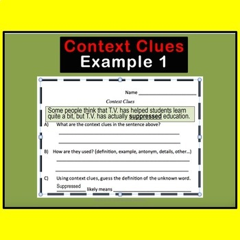 Context Clues Task Cards SET # 2 for High School and Middle School