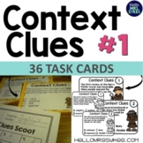 Context Clues Scoot 1 ~ 36 Task Cards and Boom Cards Grades 2-4 Tier 2 Vocab
