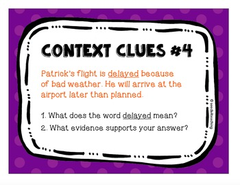 Context Clues Task Cards - Set 1