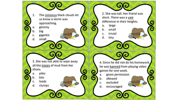 Context Clues Task Cards Set # 2