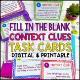 Context Clues Task Cards   Distance Learning   Google Classroom