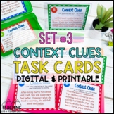 Context Clues Task Cards Set #3   Distance Learning   Google Classroom