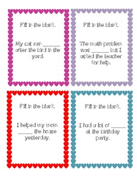 Context Clues Task Cards- Valentine's Day