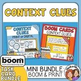 Context Clues Task Cards & Boom Cards Bundle Set 1 Grades