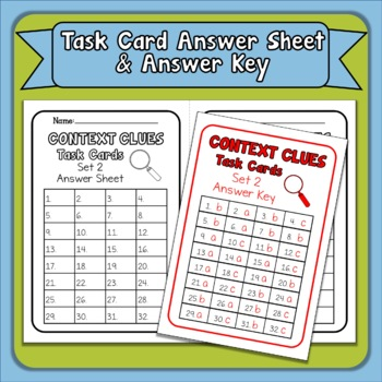 Context Clues Task Cards & Boom Cards Bundle: Set 2 Grades 4/5 Distance Learning
