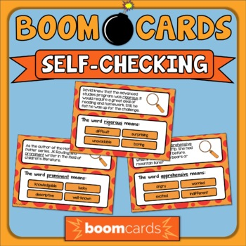 Context Clues Task Cards & Boom Cards Bundle Set 3 Grades 5/6 Distance Learning