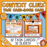 Context Clues Task Cards and Digital Boom Cards Bundle: Se