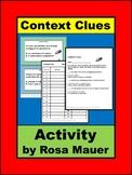 Context Clues Activities Task Cards