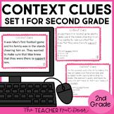 Context Clues Task Cards for 2nd Grade Set 1 | Context Clues Center
