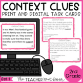Context Clues Task Cards for 2nd Grade Set 1 Print and Dig