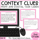 Context Clues Task Cards for 2nd Grade Set 3 Print and Dig