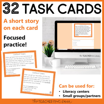 Context Clues Task Cards for 3rd Grade Set 1