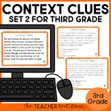 Context Clues Task Cards for 3rd Grade Set 2 | Context Clues Center