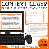 Context Clues Task Cards for 3rd Grade Set 2 Print and Dig