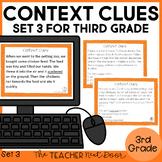 Context Clues Task Cards for 3rd Grade Set 3 | Context Clues Center