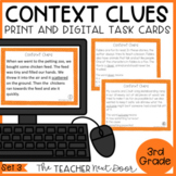 Context Clues Task Cards for 3rd Grade Set 3 Print and Dig