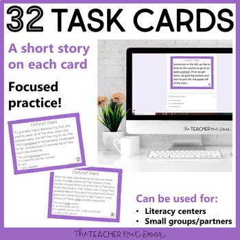 Context Clues Task Cards for 4th Grade Set 3 | Context Clues