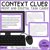 Context Clues Task Cards for 4th Grade Set 3 Print and Dig