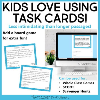 Context Clues Task Cards for 5th Grade Set 1