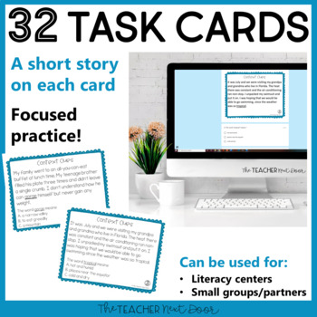 Context Clues Task Cards for 5th Grade Set 2