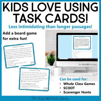 Context Clues Task Cards for 5th Grade Set 2 | Context Clues Center