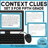 Context Clues Task Cards for 5th Grade Set 3 | Context Clues Center