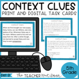 Context Clues Task Cards for 5th Grade Set 3 Print and Dig