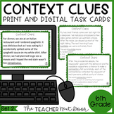 Context Clues Task Cards for 6th Grade Set 2 Print and Dig