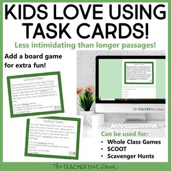 Context Clues Task Cards for 6th Grade Set 1 | Context Clues Center