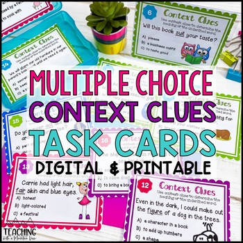 Context Clues Task Cards