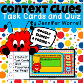 Context Clues Task Cards and Quiz for Distance Learning