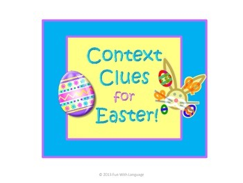 Context Clues Task Cards for Easter, Common Core
