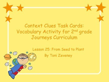 Context Clues With Nonsense Words Task Cards for Journeys Grade 2