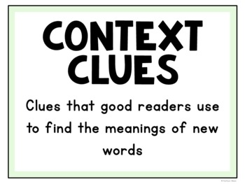 Context Clues Task Cards for Reading and Vocabulary Comprehension