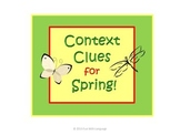 Context Clues Task Cards for Spring, Easter, St. Patrick's