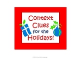 Context Clues Task Cards for the Holidays and Common Core Christmas Chanukah