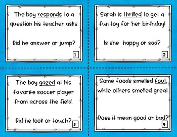 Context Clues Task Cards or SCOOT game: Which is it?
