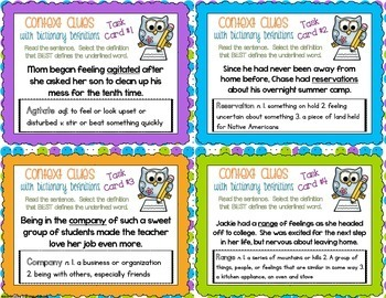 6th Grade Context Clues Game by One Stop Teacher Shop | TpT