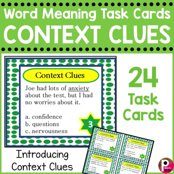Context Clues Task Cards (word meaning vocabulary)