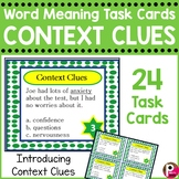 Context Clues Task Cards - word meaning vocabulary