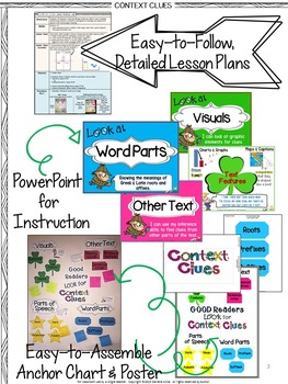 CONTEXT CLUES POWERPOINT AND NOTES: TEACH, PRACTICE, TEST