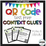 Context Clues Test Prep - Multiple Choice (with QR Code self-checking!)