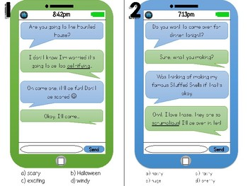 Context Clues Text Messages for Round-The-Room-Practice