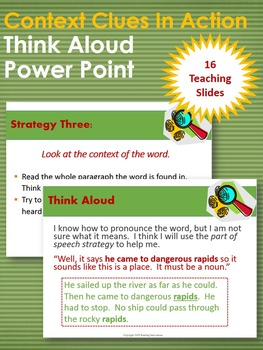 Context Clues in Action Think Aloud Power Point