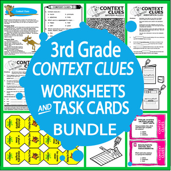 Context Clues Activities + Lesson, THREE Posters, and FULL COLOR Game