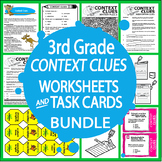 Context Clues Worksheets & Task Card Bundle – 3rd Grade Context Clues Activities